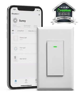 WiFi In Wall Smart Switch Light App Timer Alexa Google Home Remote Voice Control