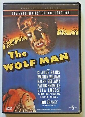 CLASSIC HORROR MOVIE POSTER 24x36-52590 WOLF MAN
