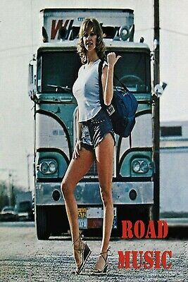 Road Music Trucker Pinup Girl Man Cave SIGN 4x6 Fridge magnet Bar Toolbox Shop