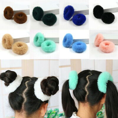 Fluffy Faux Fur Furry Scrunchie Hair Band Ties Rope Ring Elastic Ponytail Holder