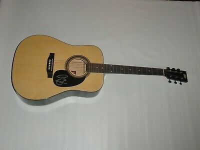 Riley Green Signed Full-Size Natural Acoustic Guitar There Was This Girl Proof