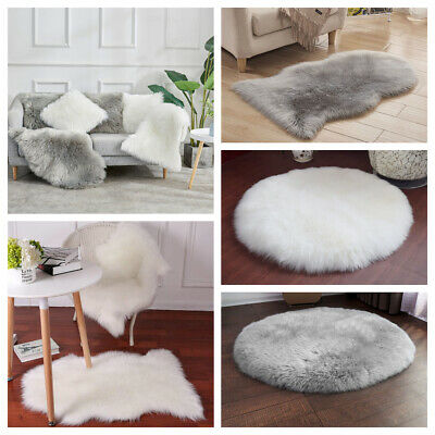 Fluffy Rug Shaggy Carpet Area Soft Dining Room Bedroom Floor Anti-Skid Mat