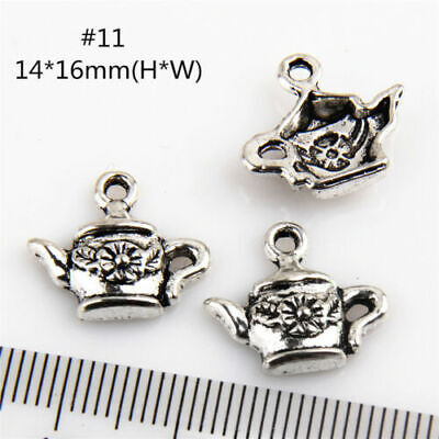 Free 150Pcs Teapot  Antique Silver Charms Wine Pot Flask For DIY Making 16x14mm