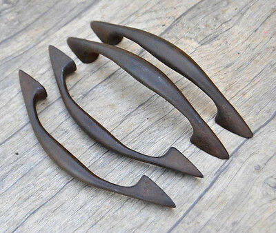 "5.5"" vintage victorian cast iron door cabinet screen handles pull rustic 4pcs"