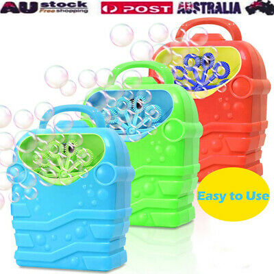 Bubble Machine Kids Durable Automatic Bubble Blower Outdoor Toy For Girl Boy AU