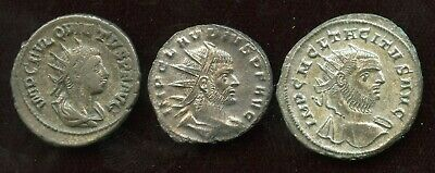 Lot of 3 Ancients Coins - 3rd Century Emperor - Billon Antoninianus
