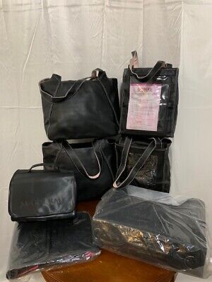 Mary Kay 2-piece Black Nylon Business Luggage, Totes, And 6 Accessories