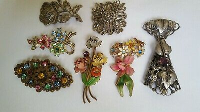 Selection Of Old Brooches