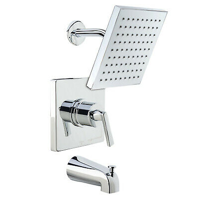 Miseno MTS-650625-S Chrome Elysa Tub and Shower Trim Package with Single