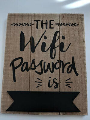 Wooden Wifi Password Hanging Sign Plaque Board Chalkboard for Home Hanging