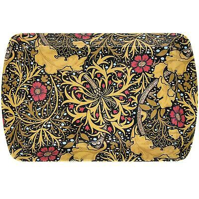William Morris Seaweed Floral Kitchen Top Small Serving Tray Tea Bag Tidy