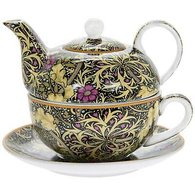 William Morris Seaweed Tea For One Cup Mug Pot Luxury Teapot Fine China Gift