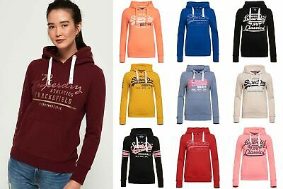 New Womens Superdry Hoodies Selection - Various Styles & Colours 060619