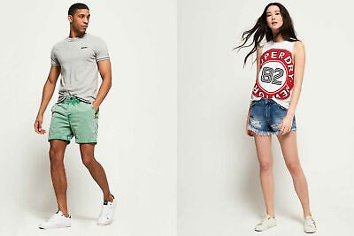 New Superdry Shorts Selection for Men and Women - Various Styles & Colours 06061