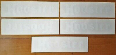 """Vtg NOS Lot 5 1970's 80s Hoosier Tires Racing Stock Car Decal Stickers 9"""" x 2.5"""""""