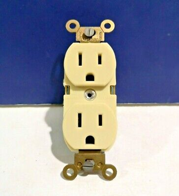 3-PK Leviton IVORY General Duty Self-Grounding Duplex Receptacle 5252-I NEW WOW