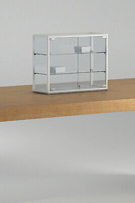 RETAIL SHOP  GLASS COUNTER TOP JEWELLERY  DISPLAY CABINET 40w x 25d x 60h cm