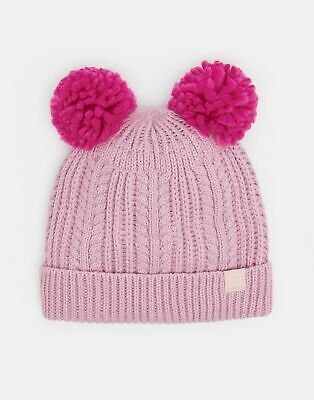 Joules Girls Ailsa Double Pom Hat in DUSK PINK Size 8in12