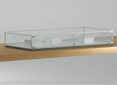 RETAIL SHOP  GLASS COUNTER TOP JEWELLERY  DISPLAY CABINET 160w x 80d x 26h cm