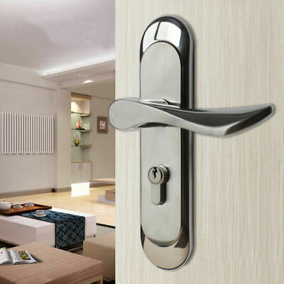 SUS304 Stainless Steel Keyed Privacy Door Security Entry Mortise Lever Lock Set