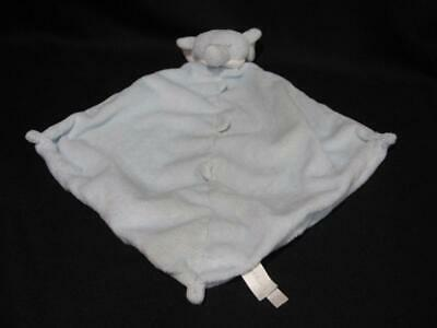 """Angel Dear Plush ELEPHANT Blue Baby Security Blanket Lovey 11"""" ~ Excellent Cond."""