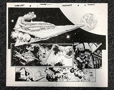 Stuart Immonen original Published Comic Art Spread - Star Wars (Marvel)