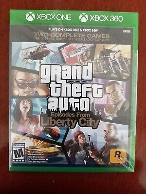 Nib Xbox One & Xbox 360 Gta Episodes From Liberty City- 2 Complete Video Games