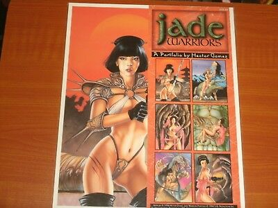 JADE WARRIORS By Hector Gomez Fantasy Art Print Portfolio 6 Colour Mature Prints