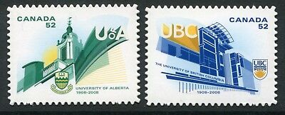 "Weeda Canada 2263i-2264i VF NH Die cut 2008 ""Universities"", Annual Collection"