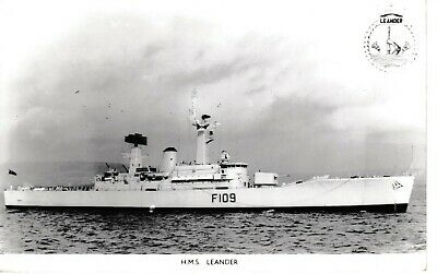 HMS LEANDER (F109), Leander-class frigate  REAL PHOTO - £2 00