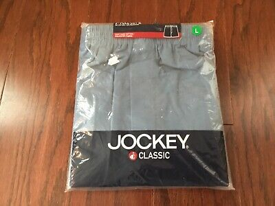 Jockey 3 Pr Vtg 2004 Cotton Blend Boxers Mens Sz L Nip