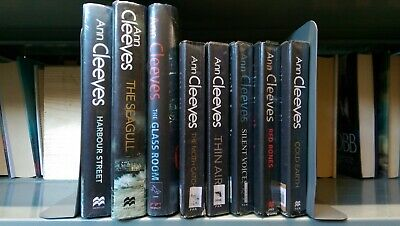 Ann Cleeves: job lot collection of 8 adult fiction books
