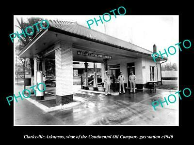 8x6 HISTORIC PHOTO OF CLARKSVILLE ARKANSAS THE CONTINENTAL OIL GAS STATION 1940