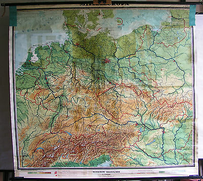 Schulwandkarte Wall Map School Map Old Europe Central Europe Germany 190x176