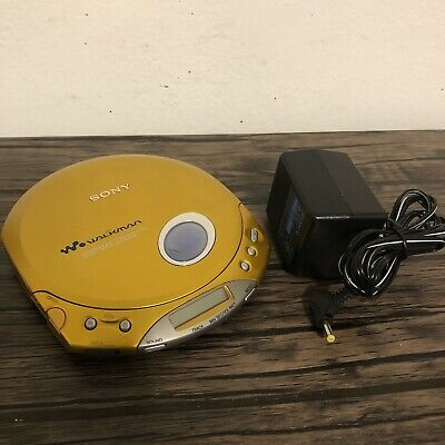 Sony D-E350 ESP MAX CD Walkman Gold Tested/Works