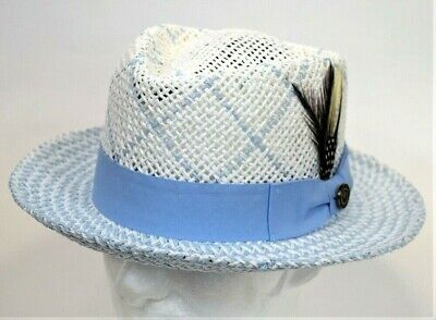 16ad348a8 ORIGINAL PENGUIN Large/XL Munsingwear Paper Straw Fedora White Hat ...