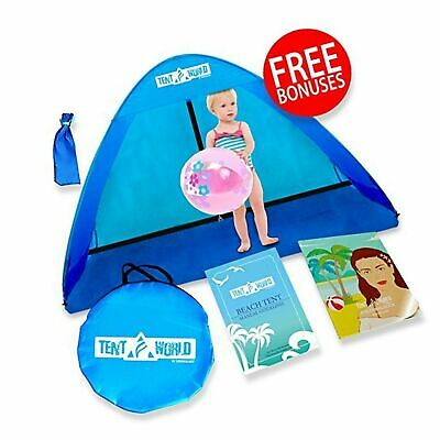 Baby Beach Pop Up Sun Shade Tent with UV Protection, Travel On The Go Sunshad...