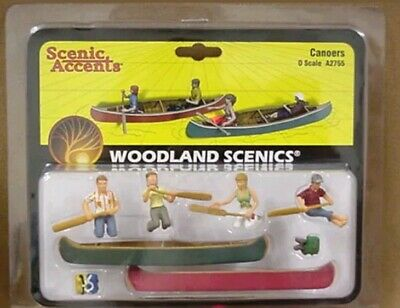 Canoers SCENIC ACCENTS #2200 N SCALE Woodland Scenics A2200