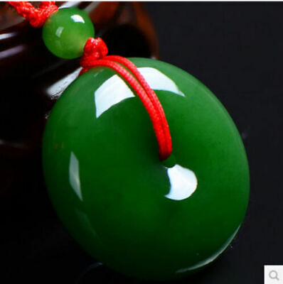 Jade Pendant Necklace Emerald Necklace buckle spinach of men and women