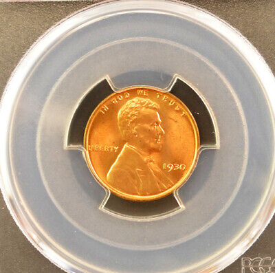1930 PCGS Graded MS66RD Red Lincoln Wheat Cent #372