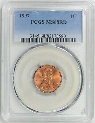 1997 Lincoln Memorial Cent PCGS MS68RD Top Pop Lincoln, None Finer 28/0
