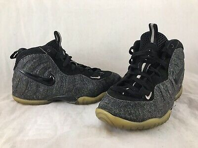 c5806d18afd24 BOYS NIKE LITTLE POSITE PRO WOOL Gray Black Basketball Shoes 843755-008 SZ  2.5Y