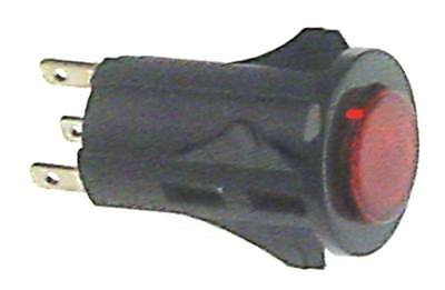 Pressure Button Red 250V 1NO Light 1-pin Connection Faston 2,8mm Illuminated 3A