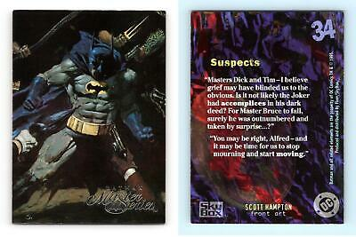 Suspects #34 Batman Master Series 1995 Skybox Trading Card