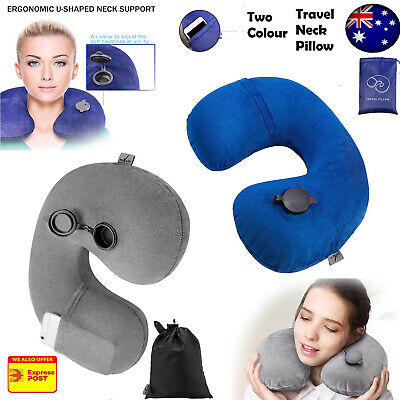 New Inflatable Air Travel Pillow Cushion Neck flight Comfortable For AU/CA/USA