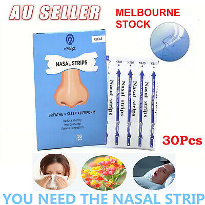 30Pcs Stop Snoring Nasal Strips to Breathe Better Easy Right Anti Snore Strip✔