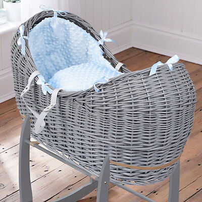 Brand new Clair de lune grey noah pod in blue dimple with grey rocking stand