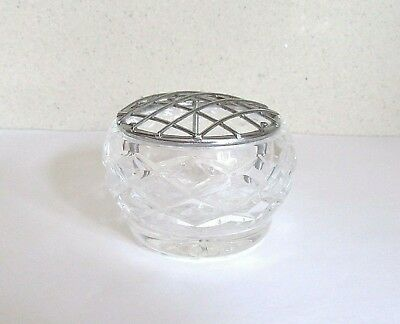 Pretty Cut Glass Bohemia Lead Crystal Rose Bowl
