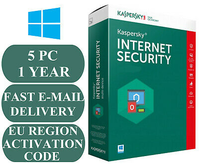 Kaspersky Internet Security 5 Pc 1 Year Activation Code Eu & Uk 2020 E-Mail Only