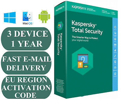 Kaspersky Total Security 3 Pc/Device 1 Year Activation Code Eu Zone 2020 E-Mail